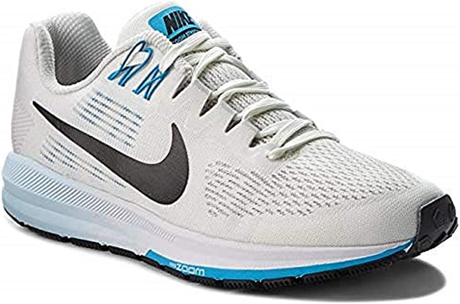 low priced f04b8 66e1f Nike Womens Air Zoom Structure 21 (8 M US, Vast Grey Black-