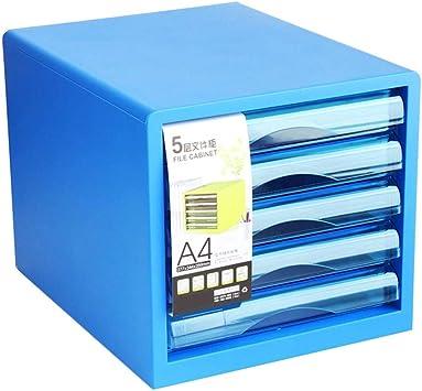 HongLianRiven Mueble Archivador 5 Cajón archivador gabinete de Almacenamiento de Datos de Almacenamiento Caja de plástico Multicolor 27X34.4X29.5cm 12-30 (Color : Blue): Amazon.es: Electrónica
