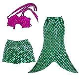 Little Girls Infant Baby 3 Piece Mermaid Swimsuit Beach Surfing Pool Swimwear 4T