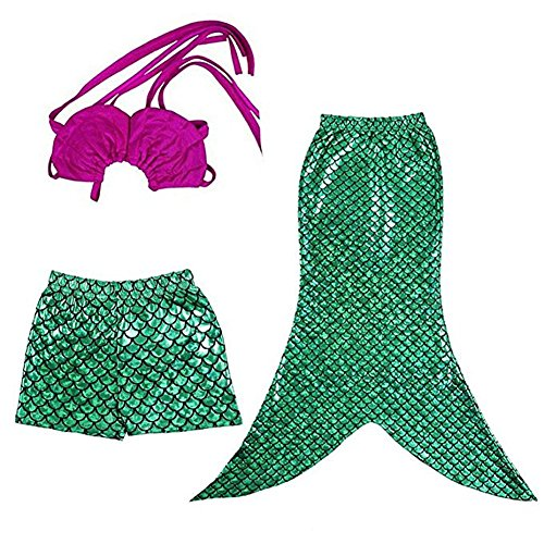 Child Princess Fairytale Little Mermaid Cosplay Outfit Halloween Ariel Costume 8T -