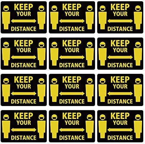 ソーシャルディスタンス☆ウォールステッカー 90×90cm Social distance 社会的距離 ソーシャル・ディスタンス 壁にも 足元にも 黒 Keep Your Distance 017291