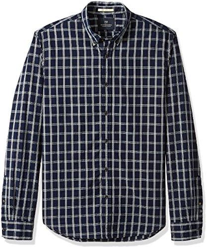 (Scotch & Soda Men's Oxford Shirt with Yarn Dye Check or Stripes, Combo el M)
