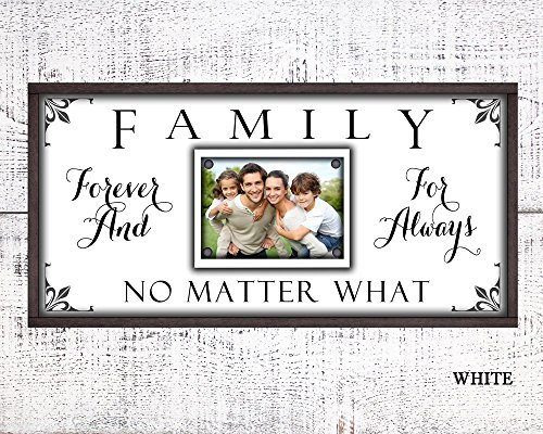 Family Forever For Always No Matter what custom canvas picture