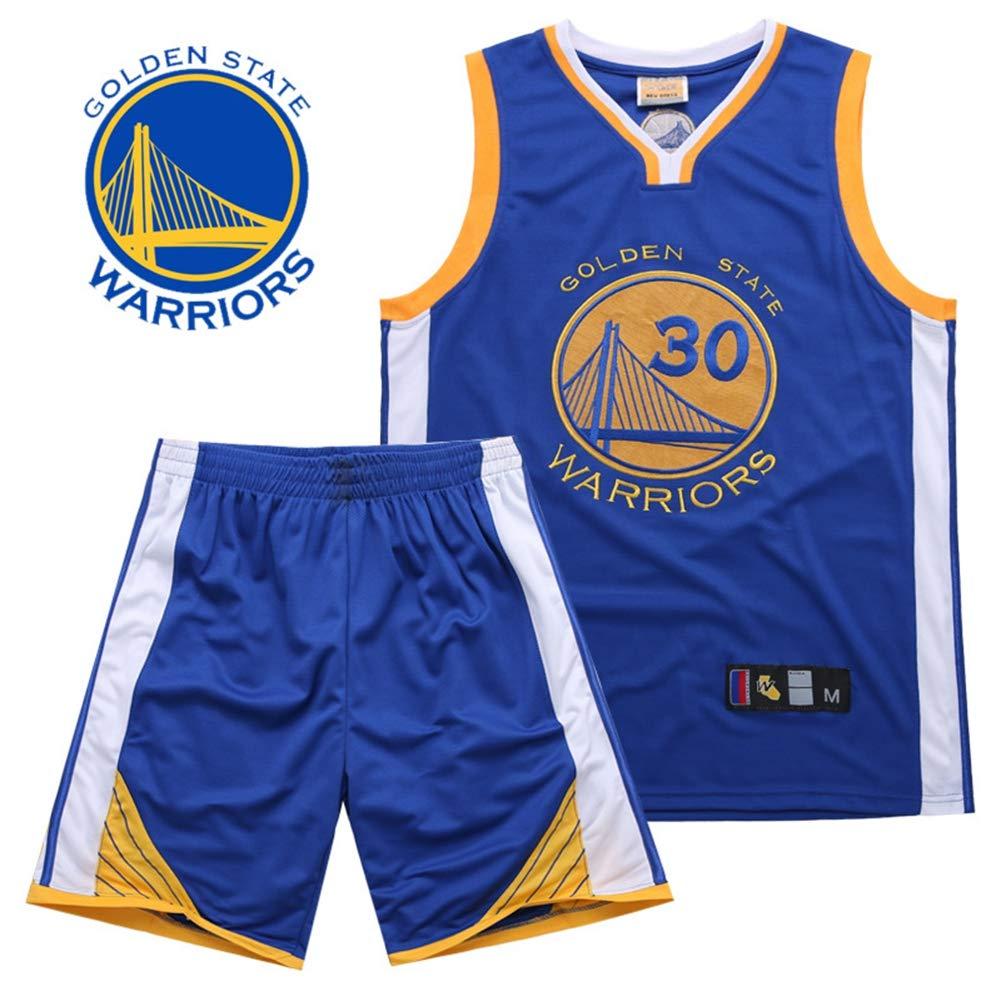 Gr/ö/ße: S-XXXL ,Black,2XL180~185CM WO NICE Golden State Warriors # 30 Stephen Curry Basketballuniform /Ärmellose Sportweste Wettbewerb Teamuniform Fan Basketballuniform