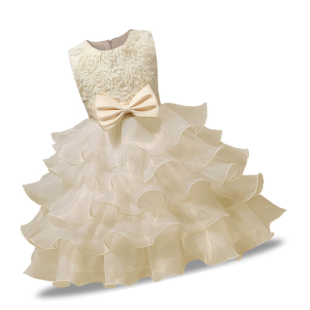 Mary ye Girl Dress Kids Ruffles Lace Party Wedding Dresses
