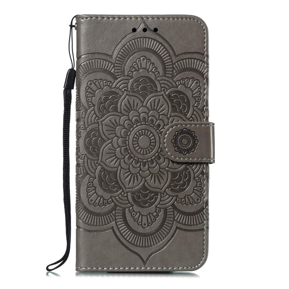 HMTECHUS Case for Galaxy A70 Elegant Embossed Card Cash Slots Bookstyle Wallet PU Leather Durable Magnetic Closure Flip Kickstand Shockproof Cover for Samsung Galaxy A70 Two Butterfly Green BF