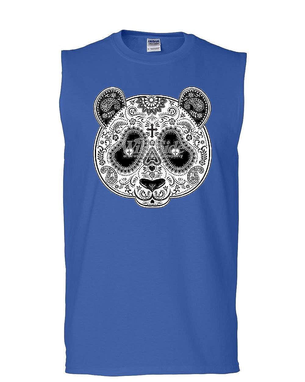 Day of The Dead Panda Mask Muscle Shirt Calavera Dia de Los Muertos Sleeveless