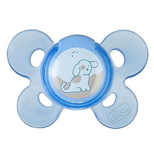 8 opinioni per Chicco 00074911210000 Comfort Boy Succhietto, Silicone, Blu, 0-6 Mesi