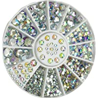 Sungpunet GREAT MIXED DIY SIZE GLITTER RHINESTONES CHARM 3D NAIL ART DECOR ACCESSORIES (multi color)