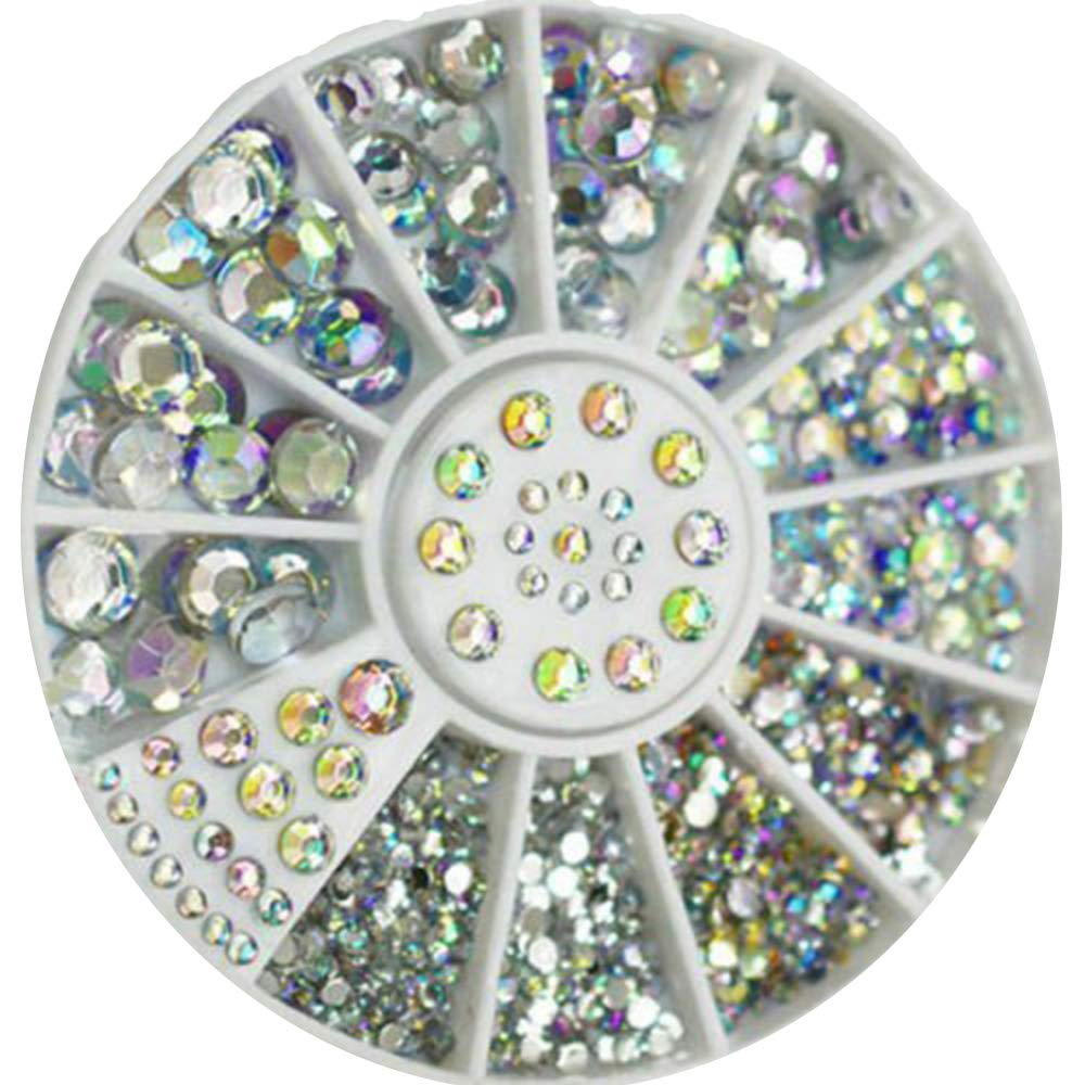 CJESLNA Great Mixed DIY Size Glitter Rhinestones Charm 3D Nail Art Decor Accessories (Multi Color