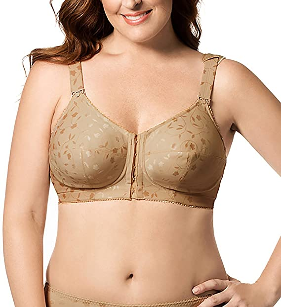 fd6e96673a8 Elila Jacquard Soft-cup Posture Bra (1415)  Amazon.ca  Clothing ...