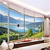Ohcde Dheark Wall Panel Wallpaper 3D Balcony Snowy Lake Landscape Background Modern Europe Mural For Living Room Large Painting Home Decor400cmX280cm