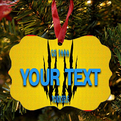 BRGiftShop Personalize Your Own Superhero Series: Go F#CK Yourself Yellow Claws Man Christmas Tree Ornament