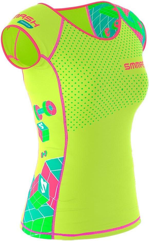 Sport Funktionsshirt f/ür Crossfit SMMASH X-WEAR GO Candy Damen Compression T-Shirt Sportoberteile Yoga Fitness Kurzarm Sportshirt Atmungsaktivees Laufshirt Gym Fahrrad