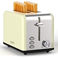 JOOFO 2 Slice Stainless Steel toaster,6 Shade Settings Extra-Wide Slot Toaster with Bagel, Cancel, Defrost,Reheat…
