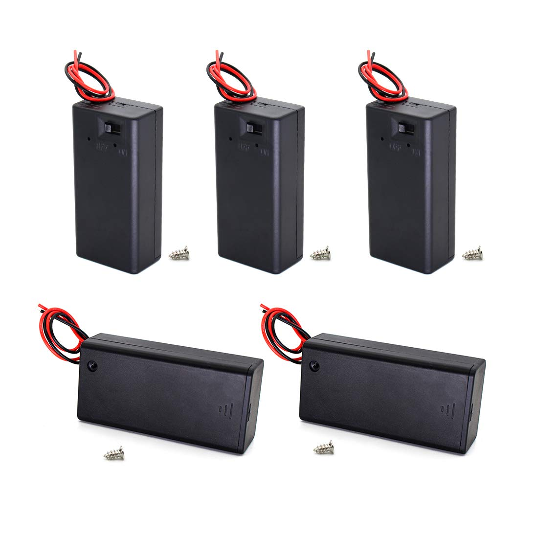 9V Battery Holder with Switch Leads Wires 9 Volt Battery Case Cover on wiring rechargeable batteries in series, wire 4 batteries series, wiring car batteries in series,