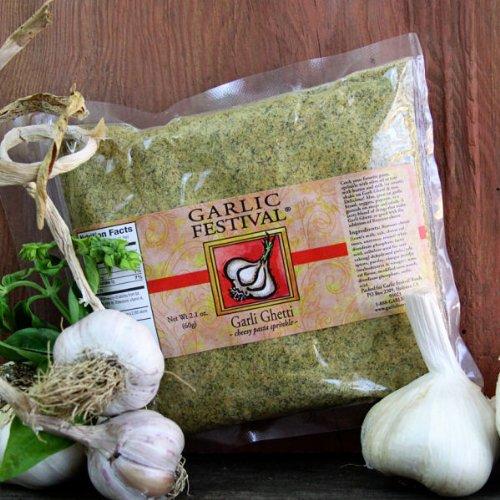 Garlic Festival Garli Ghetti Cheesy Garlic Sprinkle Resealable Flat Pack by Garlic Festival