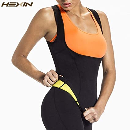017c711708cb6 Image Unavailable. Image not available for. Color  JuritiShop HEXIN Plus  Size Neoprene Sweat Sauna Hot Body Shapers Vest Waist Trainer ...