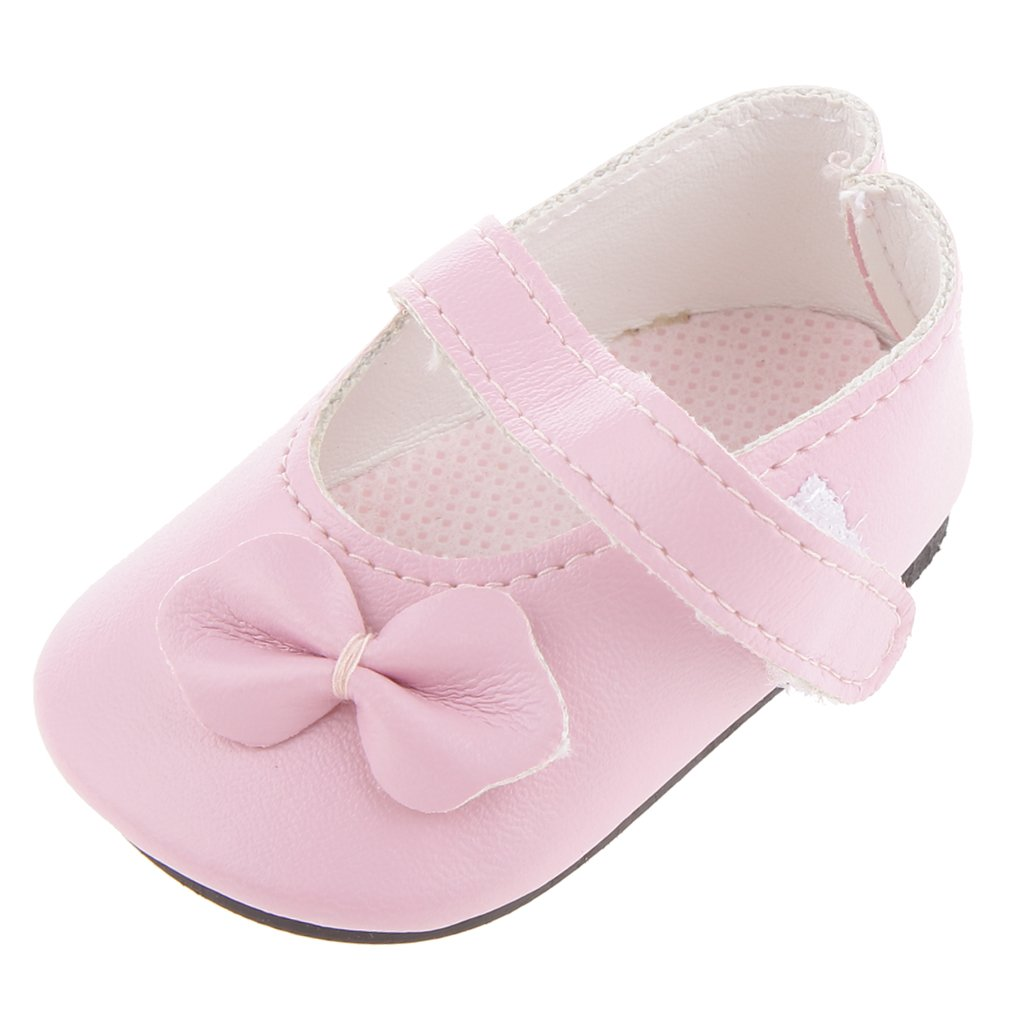 Pink Mary Jane Shoes with Rabbit Ear Clothes Accessory for 18 inch American Girl Our Generation Journey My Life Dolls Generic STK0157001897