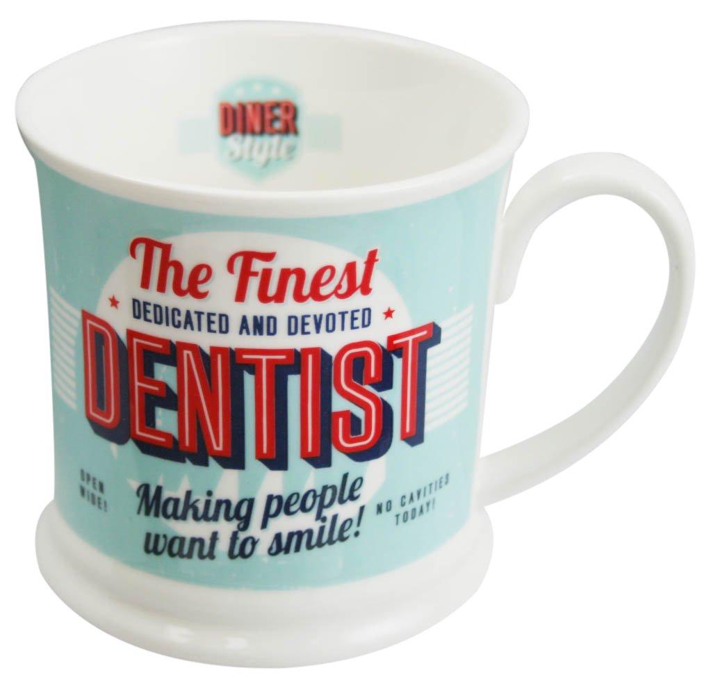 3dRose Dentist Speak Ceramic Mug 15 oz White