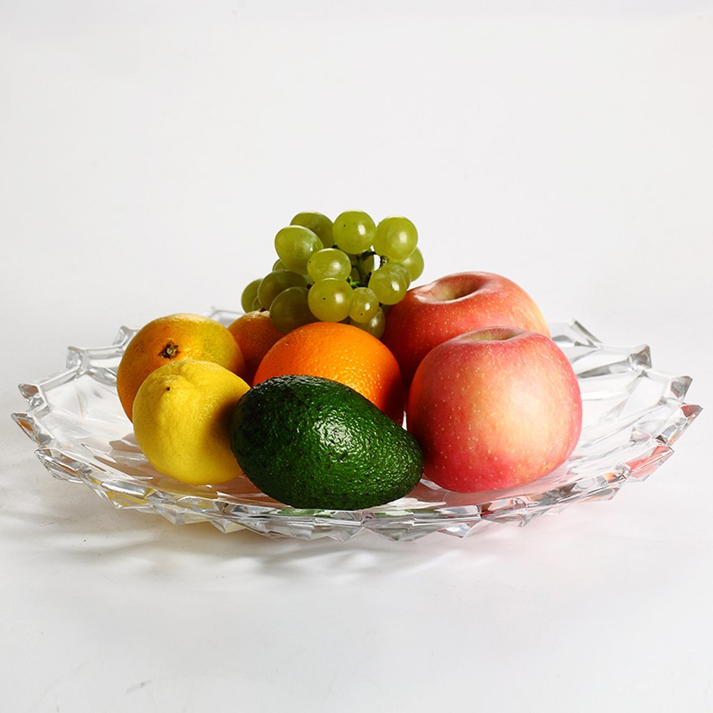 modern European style minimalism glass fruit dish Fruiting coffee table Home Decoration Fruit basket Dried fruit plate large