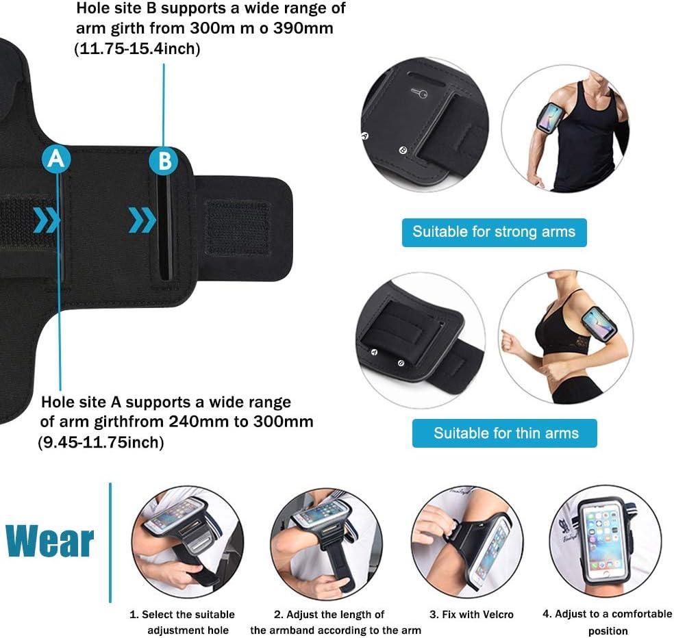Le v/élo Taille Ajustable Foking Brassard Sport pour Huawei Y7 la randonn/ée Le Fitness Design Safey id/éal pour Le Fitness 2019 ,Multifonction Le Jogging