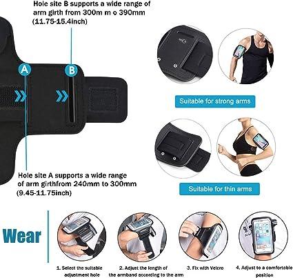 Taille Ajustable la randonn/ée Le v/élo Le Jogging Design Safey id/éal pour Le Fitness Foking Brassard Sport pour OnePlus 6,Multifonction Le Fitness