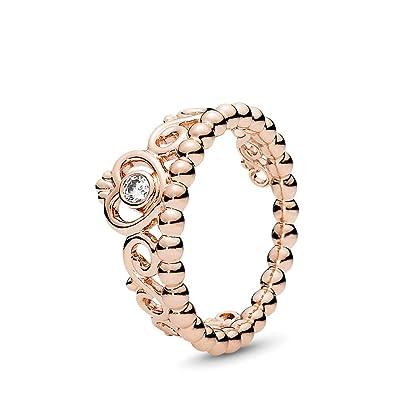 2e1d637cc Image Unavailable. Image not available for. Color: PANDORA My Princess  Tiara Ring, PANDORA Rose ...