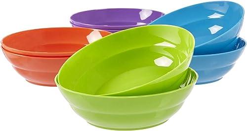 US Acrylic Sonoma Tazones plásticos para cena de pasta y ensalada de 7 pulgadas