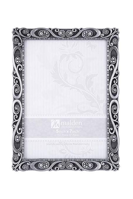 Amazon.com: Malden International Designs Morgan Pewter Metal Picture ...