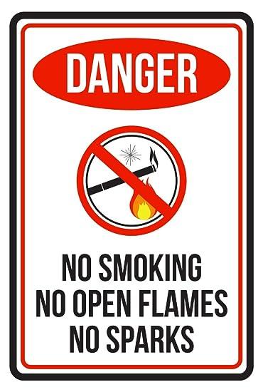 Amazon.com: Peligro no fumar sin llamas abiertas sin chispas ...