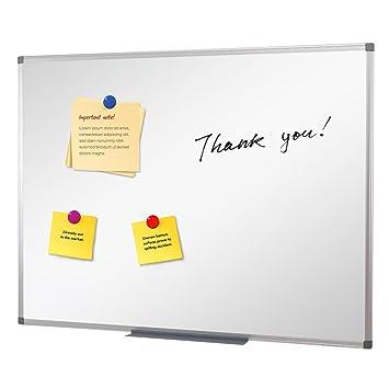 SwanSea Pizarra blanca Tableros magnéticos Limpieza en seco Borrar Boletín Office Board Large 90x60cm (An x Al)