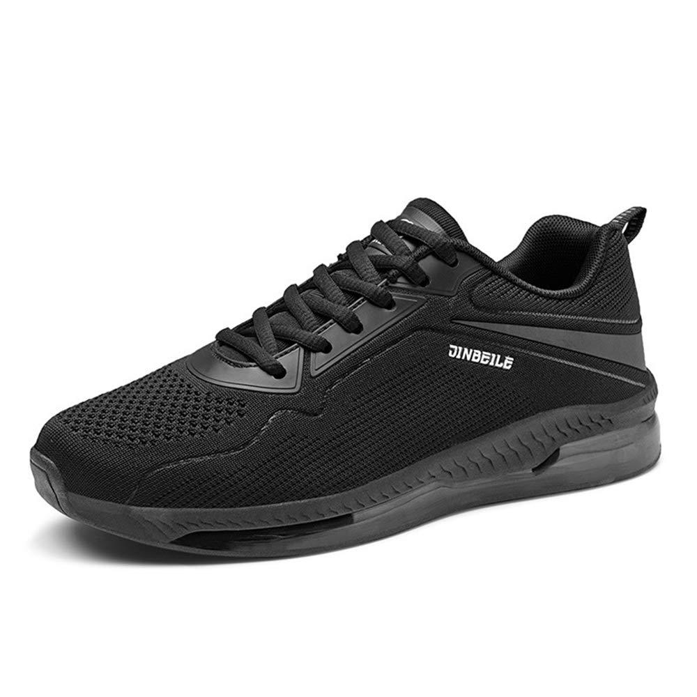 Qiusa Breathable laufende Schuhe der Männer beiläufige dauerhafte Rutschfeste Komfort-Sport-Schuhe (Farbe   Schwarz, Größe   EU 43)
