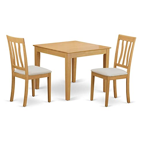 OXAN3-OAK-C 3 Pc Table and Chairs set – Table and 2 Dining Chairs
