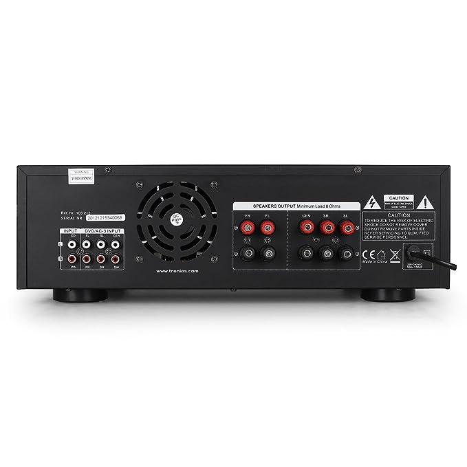 Skytronic AV-340 Amplificador Karaoke 5 Canales USB MP3: Amazon.es: Electrónica