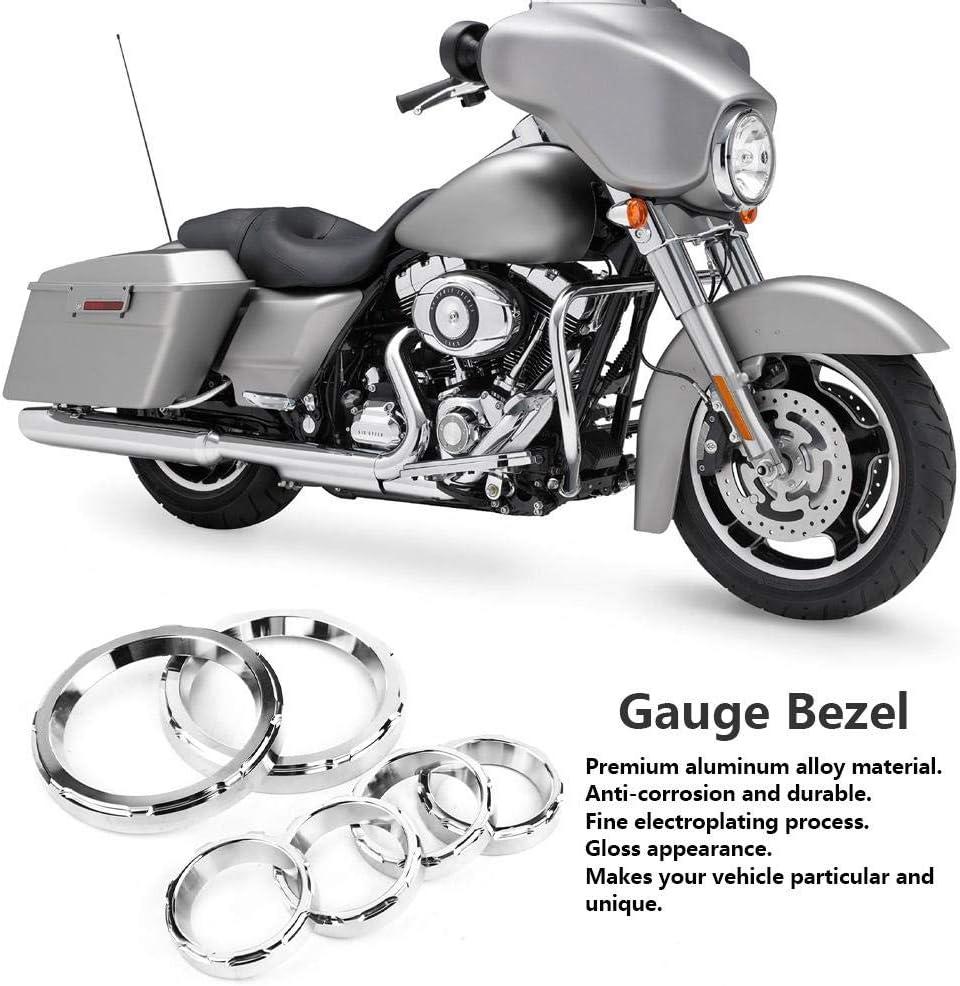 Alliage daluminium de Moto Tableau de Bord kit de Couvercle de lunette de Jauge de Tableau de Moto pour Electra Glides
