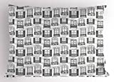 Ambesonne Geometric Pillow Sham, Apartment Building Urban Architecture European Windows City Town Illustration, Decorative Standard Queen Size Printed Pillowcase, 30 X 20 inches, Grey White