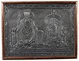 Kapasi Handicrafts Annamalaiyar/Unnamulaiamman/Abidhakuchalambal Embossed On Aluminium Oxidise Standing Wall Hanging Photo Frame (33L X 25H) CM Antique Finish Indian Home Decor Art Piece