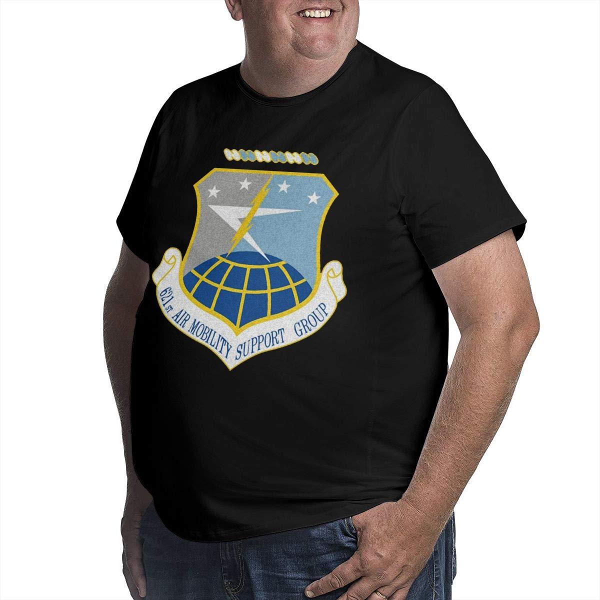 YONGCHOO JR Air Force 621st Air Mobility Support Group Mens Short Sleeve T-Shirt Big /& Tall Heavyweight T-Shirt