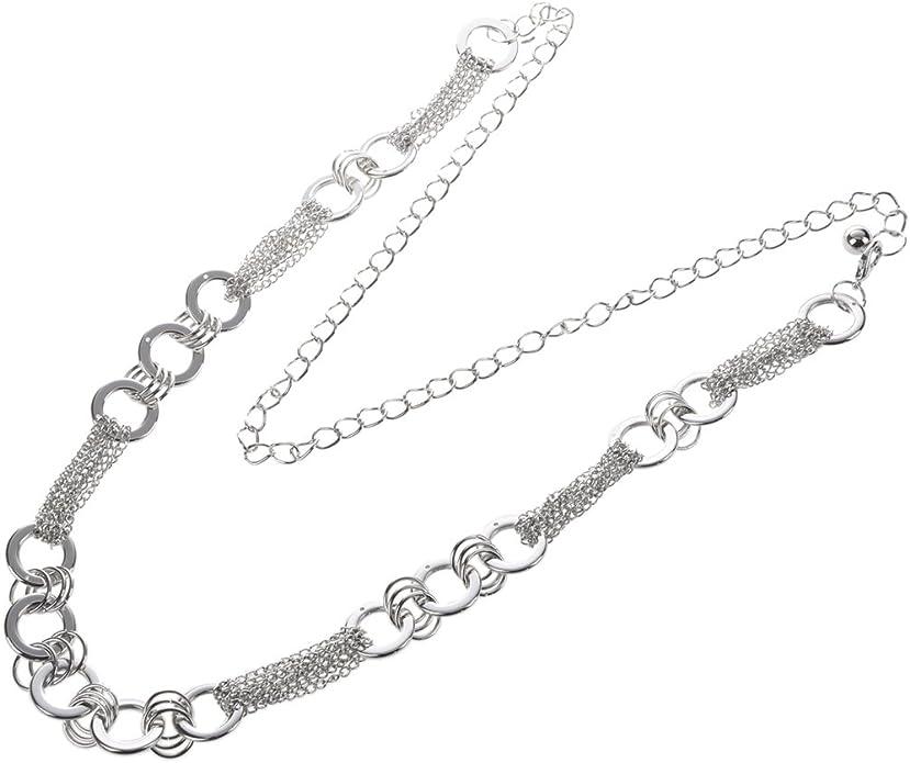 Multi-chain Metallo Cintura per Lady Argento Lady Cintura R SODIAL