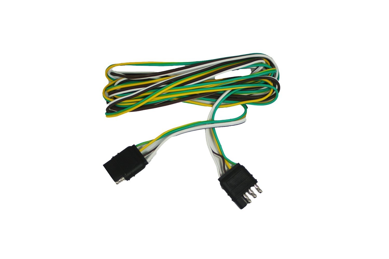 abn 4 way 4 pin plug flat 20 gauge trailer light wiring ... five wire trailer harness 8 wire trailer harness