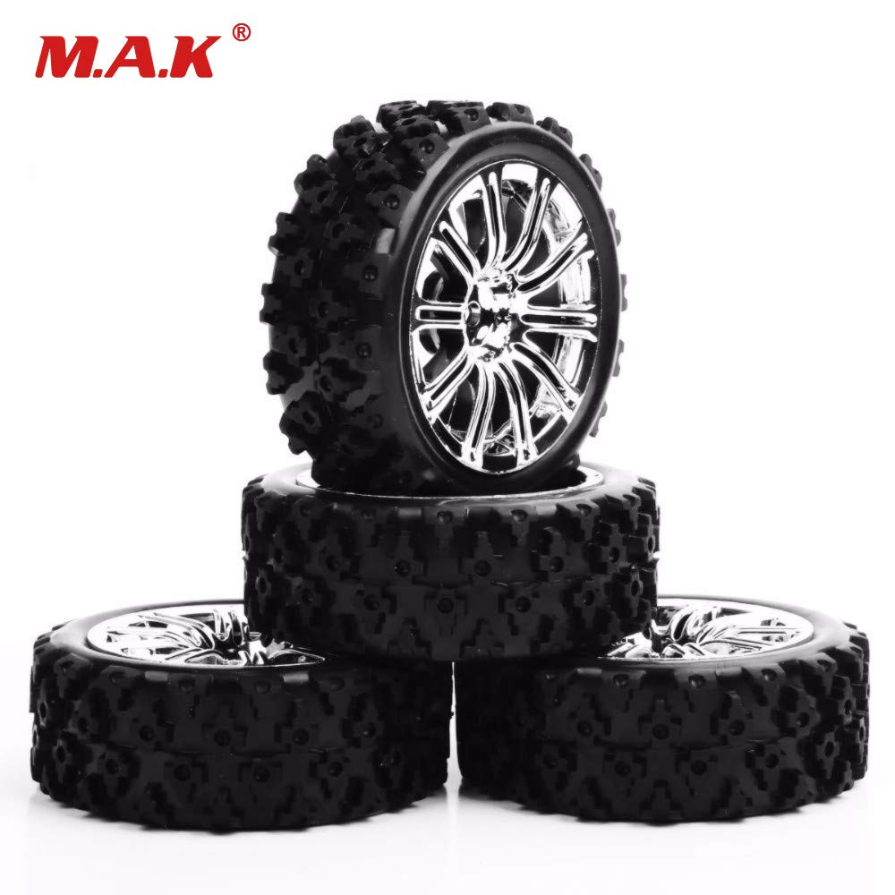 4Pcs 1//10 RC Tyres Tires Wheel 12mm Hex For Rally HSP HPI Off Road Racing Car