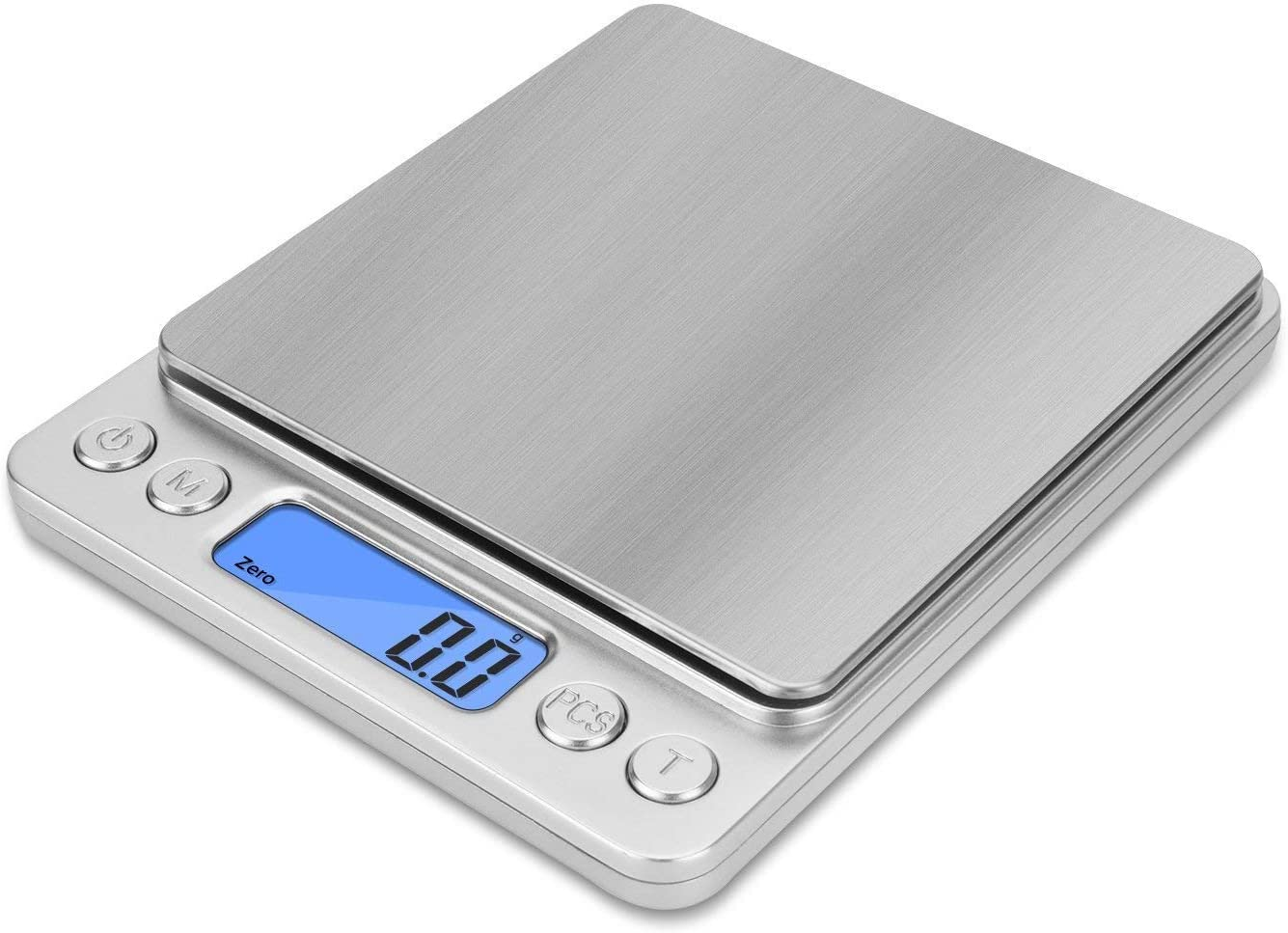 NEXT-SHINE Gram Scale Digital Kitchen Scale Mini Pocket Pro Size 2000g x 0.1g with LCD Display Stainless Steel Platform for Cooking Baking Jewelry Weight Postal Parcel