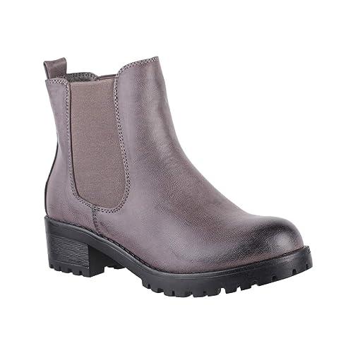Botines estilo Chelsea de Elara, cómodos, para mujer, con plataforma: Amazon.es: Zapatos y complementos