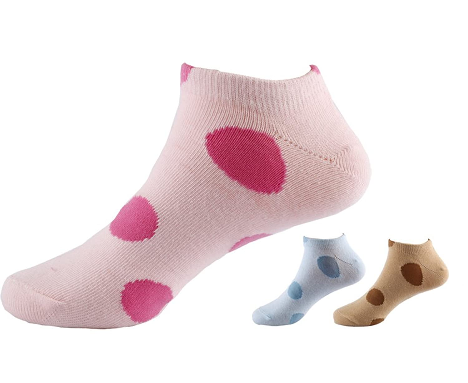 TULIPTREND Women's 3 Pack Poka Dot Sport Socks