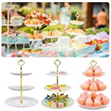 3 Tier Cupcake Stand, Plastic Tiered Party Serving