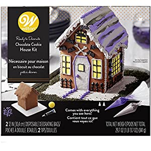 Wilton 2104-4343 Ready-To-Decorate Halloween Chocolate Cookie House, One Size, Assorted