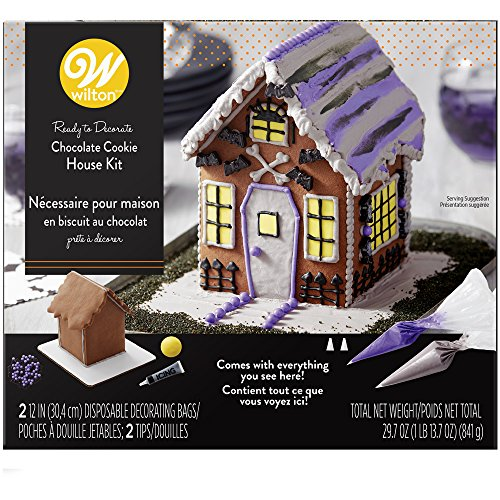 Wilton 2104-4343 Ready-To-Decorate Halloween Chocolate Cookie House, One Size, -