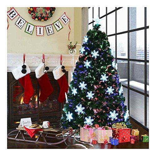 6feett Pre-Lit árbol de Navidad artificial de fibra óptica W/luz LED & Topstar día festivo