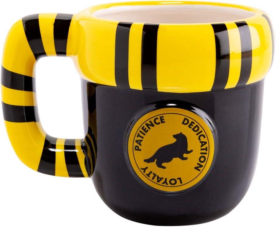 Harry Potter Hufflepuff Scarf Shaped 400ml Mug with a Box